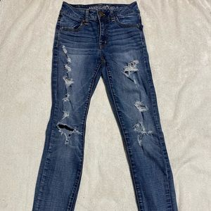 American Eagle Skinny Ripped Jeans